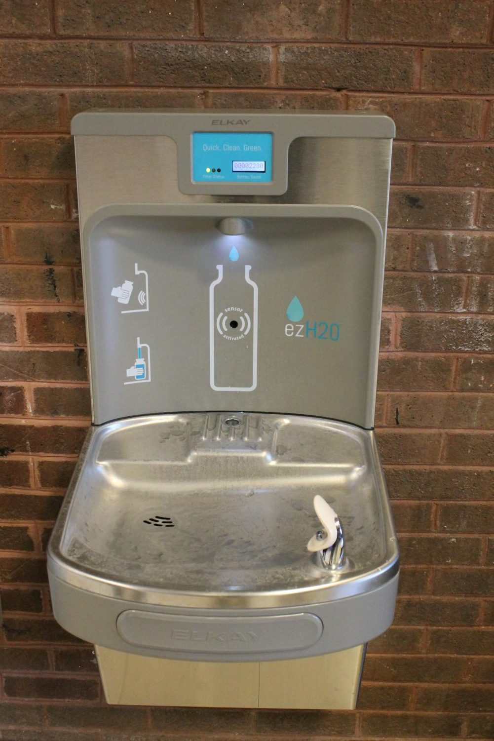 The new water filter in the Falcon Foyer. Photo courtesy of the Poolesville Pulse.