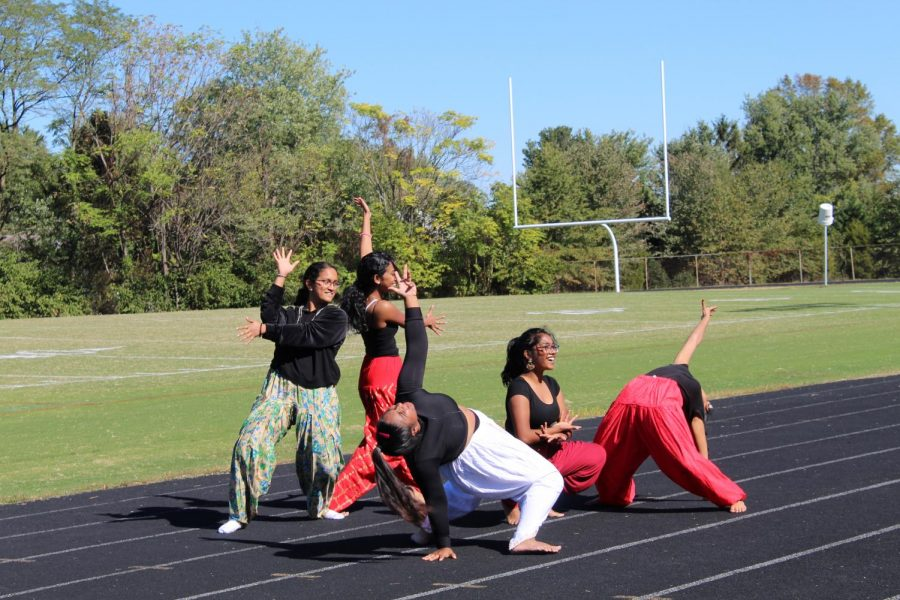 Bollywood club makes their debut performance at the pep rally.