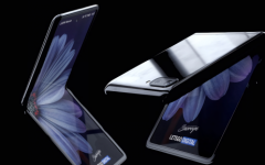 The Samsung Z Flip features the first foldable glass screen.