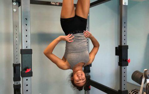 Sophomore gymnast Maia Lee