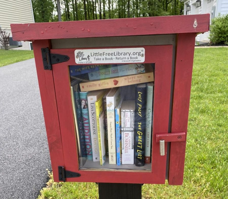 A Little Free Library box here in Poolesville.